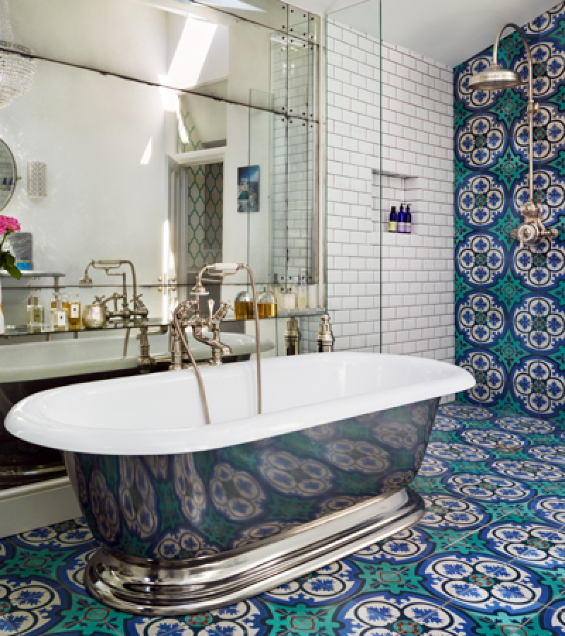 The Tay Freestanding Bath and Dalby Shower