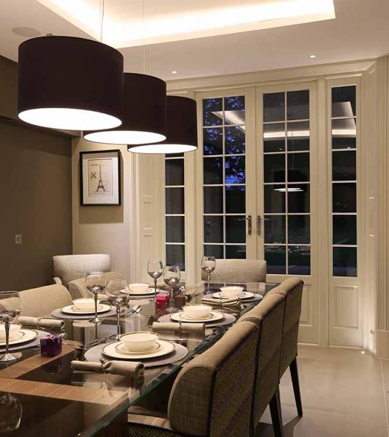 Dining room lighting from John Cullen Lighting