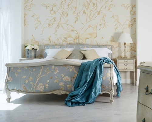 Louis XV upholstered bed from Simon Horn