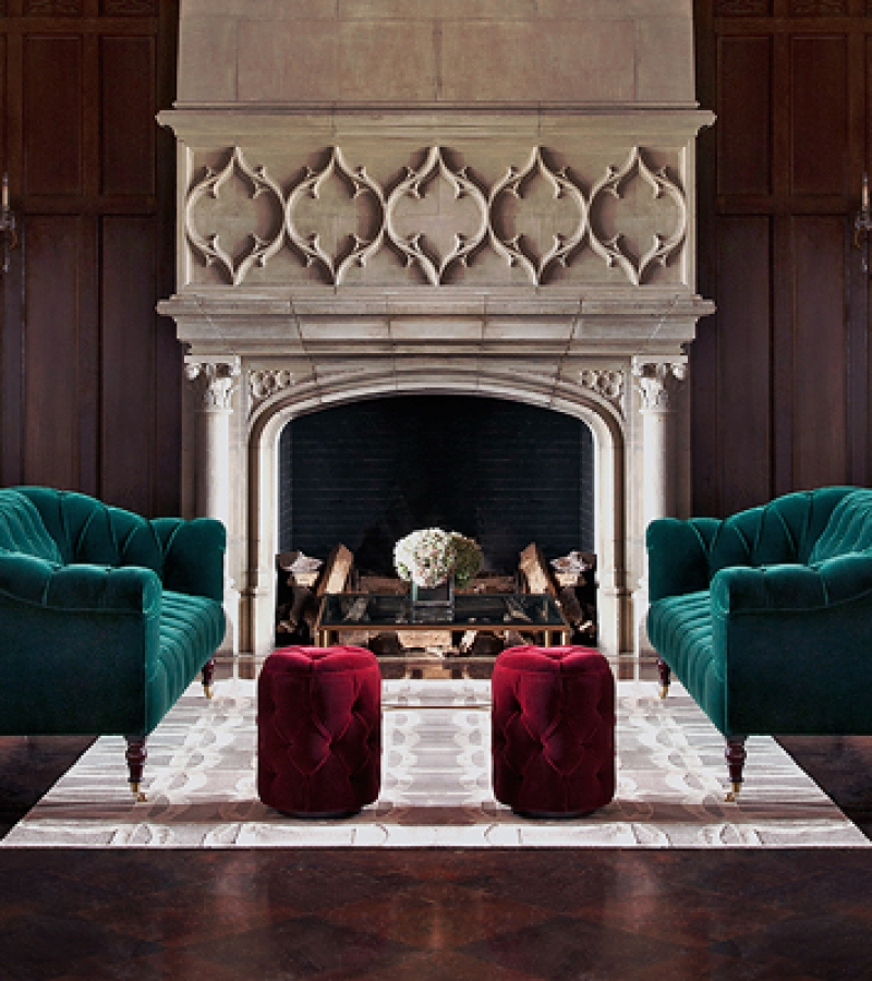 George Smith Seaton Sofas with Soho Baby Drums