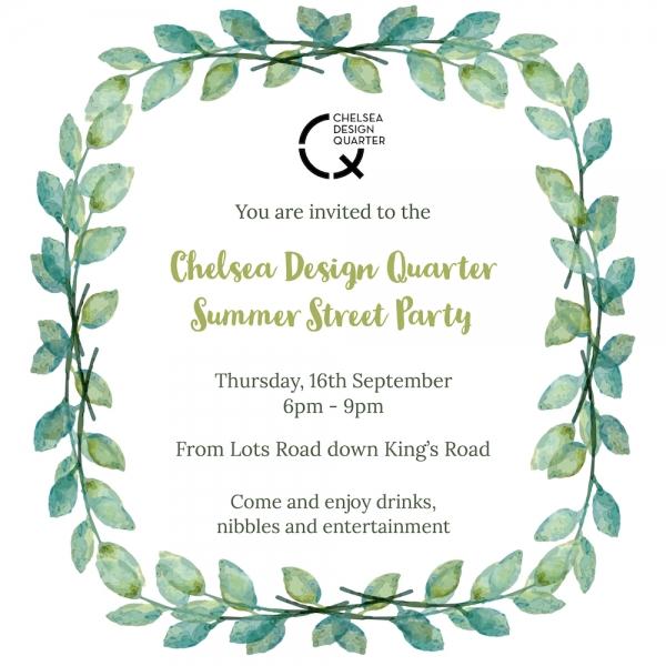 Chelsea Design Quarter Summer Street Party 2021