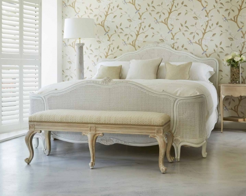 Reine de France caned bed from Simon Horn