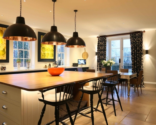 Country kitchen lighting from John Cullen Lighting