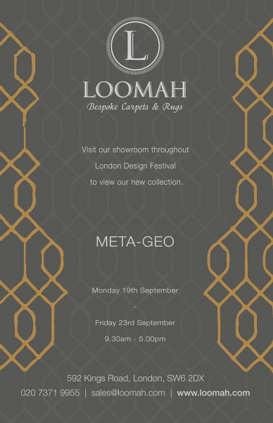 META-GEO: Loomah To Launch New Collection For London Design Festival