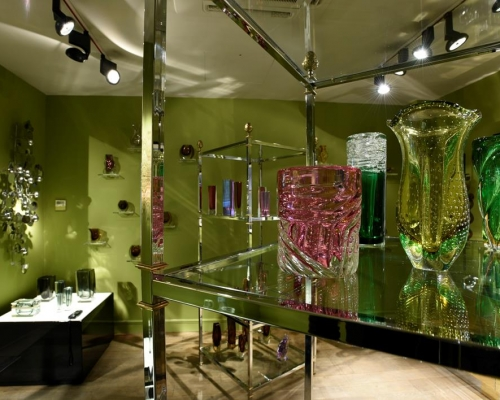 Vintage Murano glass Display at Talisman Showroom