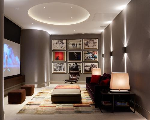 Media room lighting by John Cullen Lighting