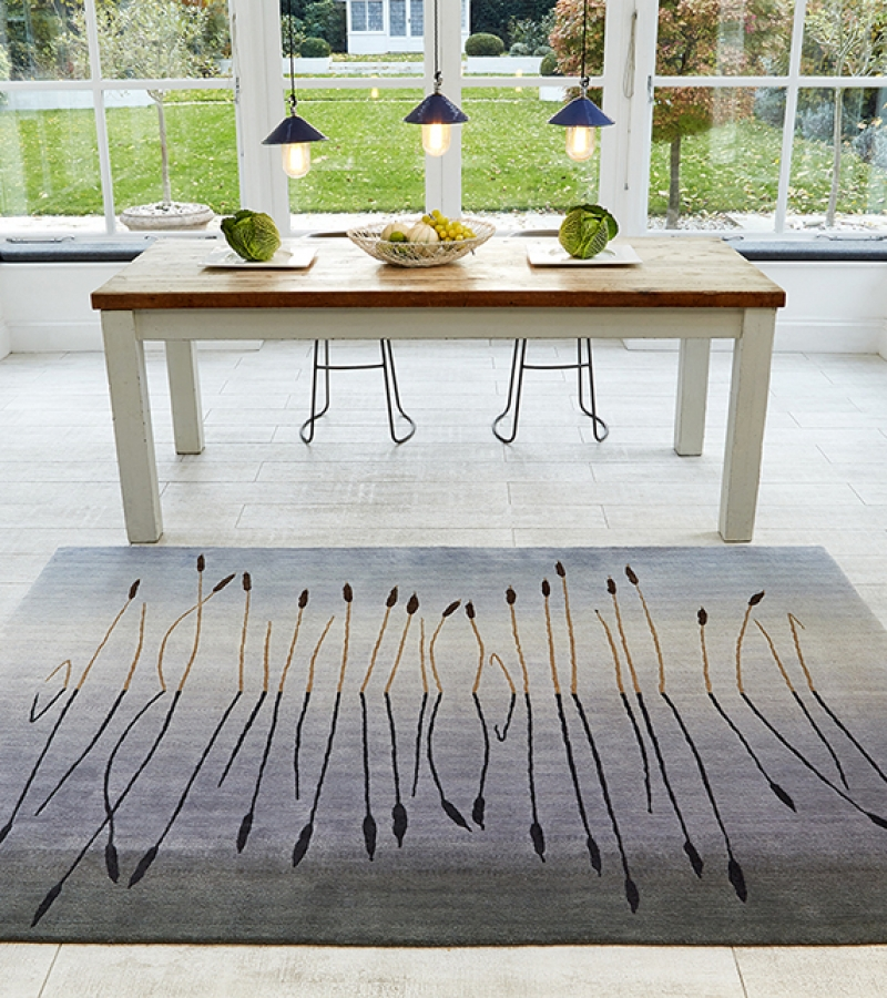 Deirdre Dyson BULRUSHES hand knotted rug