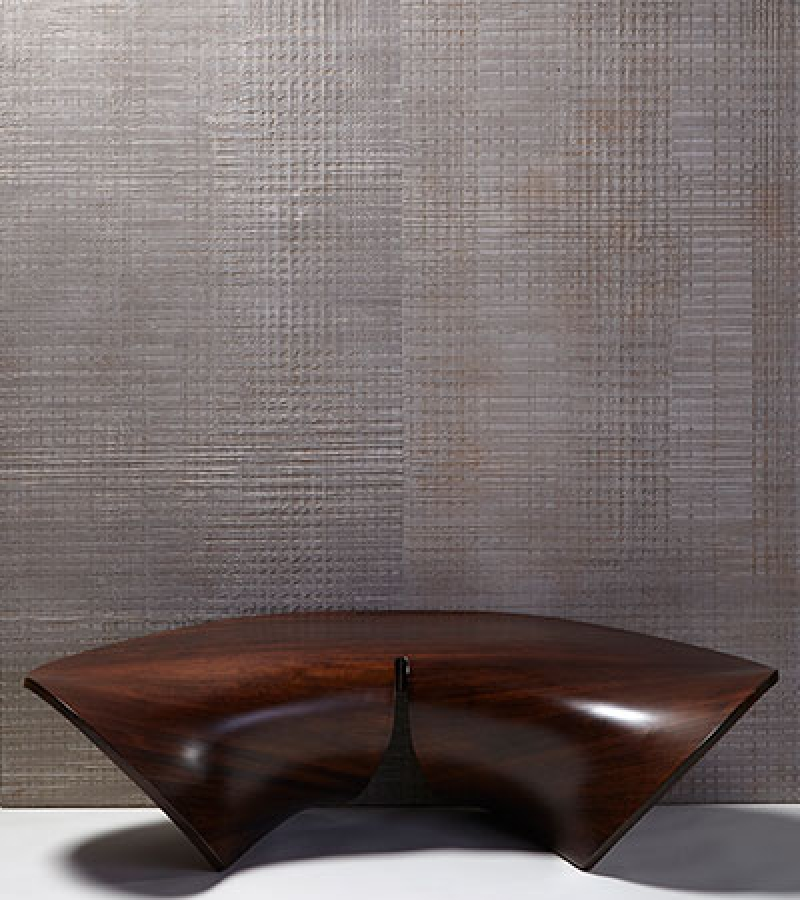 Skins - Hippo  wallcovering and the Mobu Bench